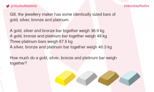 Maths puzzle silver bars