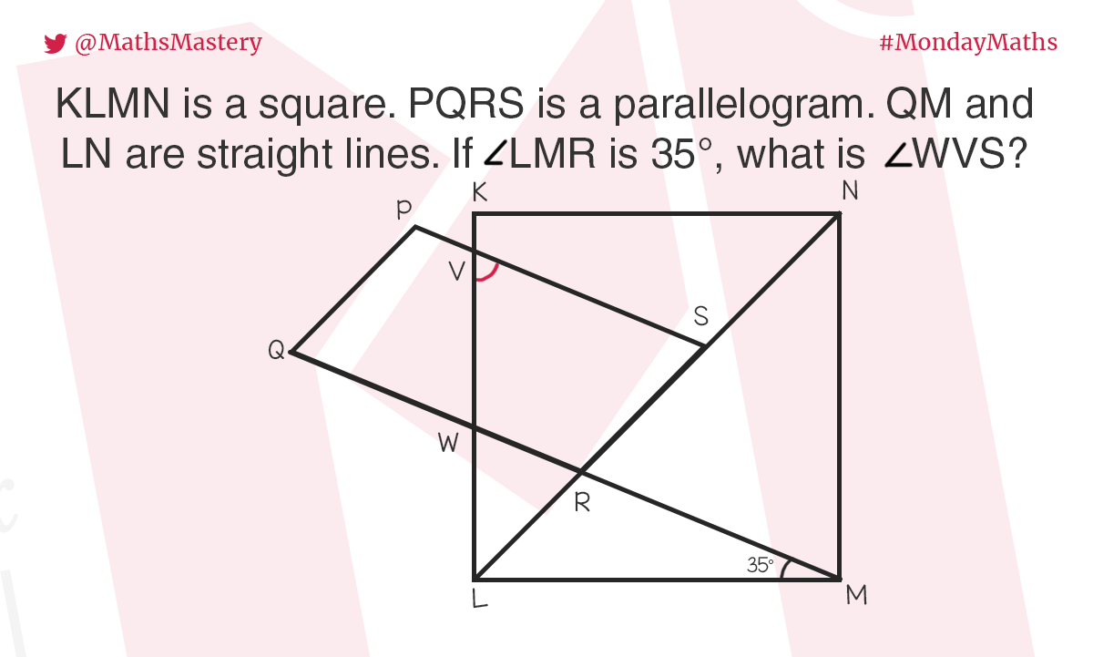 Missing angles in #MondayMaths