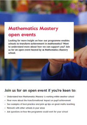 Book a school open event